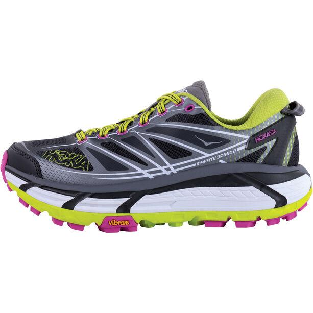 Hoka One One Mafate Speed 2 Running Shoes Damen grey / acid