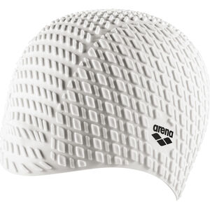 arena Bonnet Silicone Swimming Cap white white