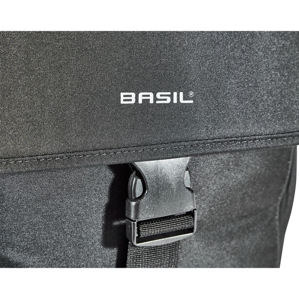 Basil Go Doppelpacktasche 32l solid black
