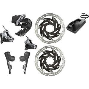 SRAM RED eTap AXS HRD D1 HRD Kit 1x12-fach Flatmount schwarz schwarz