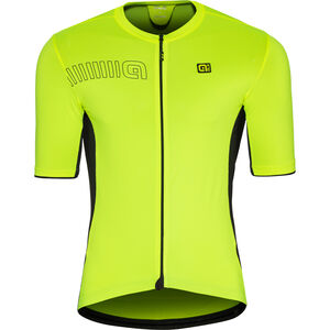 Alé Cycling Solid Color Block SS Jersey Herren flou yellow flou yellow