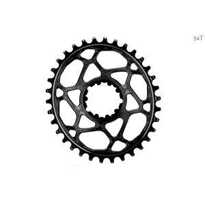 absoluteBLACK Ovales Kettenblatt Spiderless Boost148 für SRAM black black