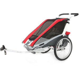 Thule Chariot Cougar 2 Bike Trailer + Bicycle Trailer Kit red red