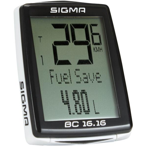 SIGMA SPORT BC 16.16 Fahrradcomputer kabelgebunden schwarz