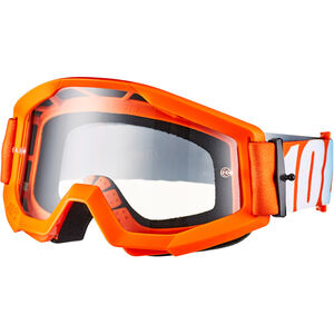 100% Strata Anti Fog Clear Goggles Kinder orange orange