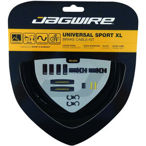 Jagwire Sport XL Universal Bremszugset für Shimano/SRAM schwarz schwarz