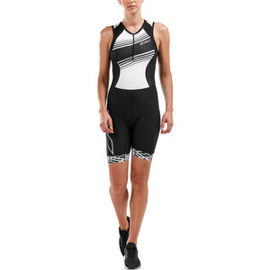2XU Compression Trisuit Damen black/black white lines black/black white lines