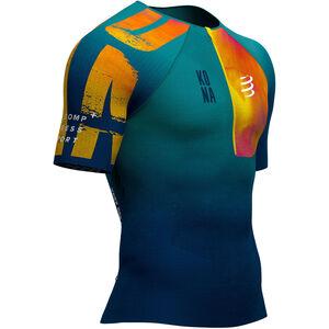 Compressport Triathlon Postural Aero Kona 2019 Kurzarmtop Herren blue blue