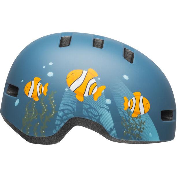 Bell Lil Ripper Helmet Kinder matte gray/blue fish