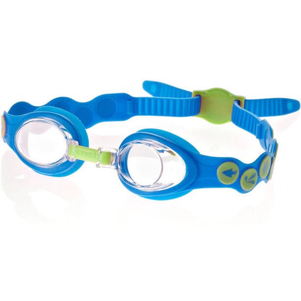 speedo Sea Squad Goggles Kinder neon blue/hydro green