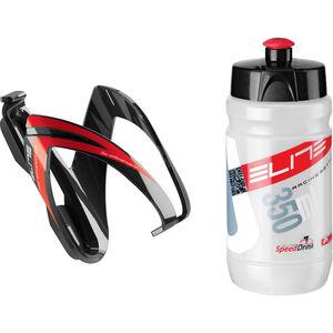 Elite Kit Ceo Trinkflasche mit Halterung 350ml schwarz/rot bei fahrrad.de Online