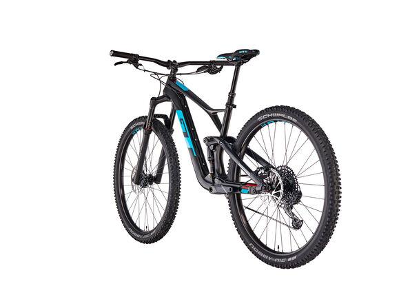GT Bicycles Sensor Carbon Elite satin raw/gloss aqua blue/red