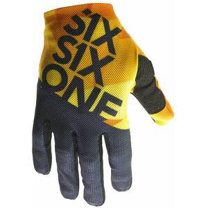SixSixOne Raji Handschuhe geo orange