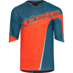 Alpinestars Crest 3/4 Jersey Men poseidon blue/energy orange