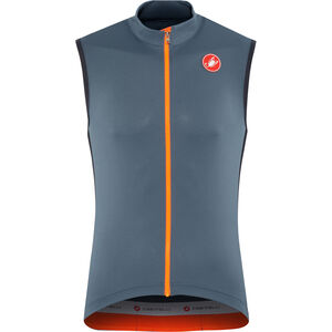 Castelli Entrata 3 FZ Sleeveless Jersey Herren light steel/blue light steel/blue