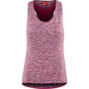 Löffler Rainbow Racerback Fahrrad Top Damen berry/rainbow berry/rainbow