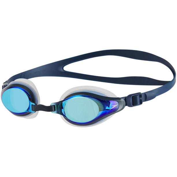 speedo Mariner Supreme Mirror Goggles clear/navy/blue mirror