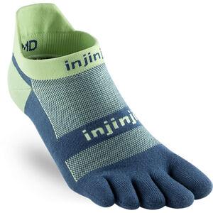 Injinji Run Xtralife Lightweight No Show Socks Men Seafoam