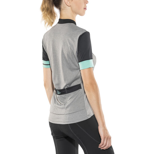 Craft Point Jersey Damen dark grey melange/galactic