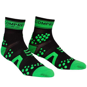 Compressport Racing V2 Run High Socks black/green black/green