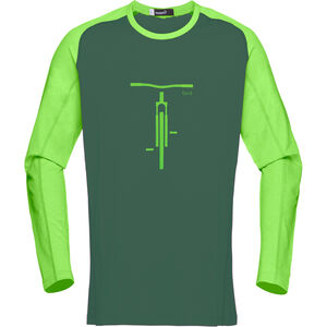 Norrøna Fjørå Equaliser Lightweight Long Sleeve Shirt Men Bamboo Green bei fahrrad.de Online