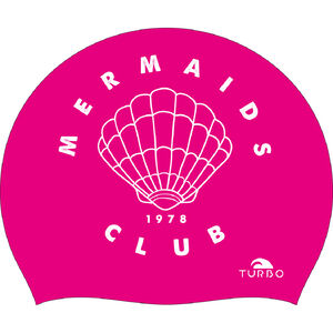 Turbo Mermaid Club Swimming Cap rosa rosa