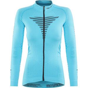X-Bionic Effektor Power Fahrrad Trikot LS Full-Zip Damen turquoise/anthracite turquoise/anthracite