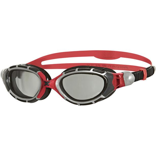 Zoggs Predator Flex Goggles Polarized Reactor grey/red/black