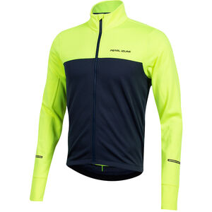 PEARL iZUMi Quest Thermo Langarm Jersey Herren screaming yellow/navy screaming yellow/navy