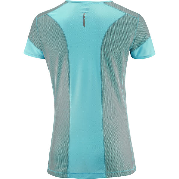 Salomon Trail Runner SS Tee Women blue curacao/charcoal