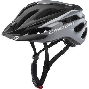 Cratoni Pacer Helm schwarz/weiß matt