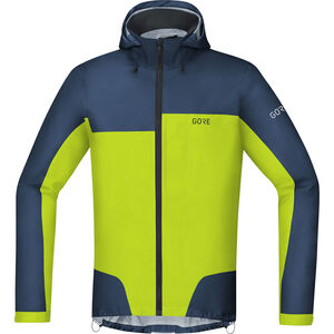GORE WEAR C5 Gore-Tex Active Trail Hooded Jacket Men deep water blue/citrus green