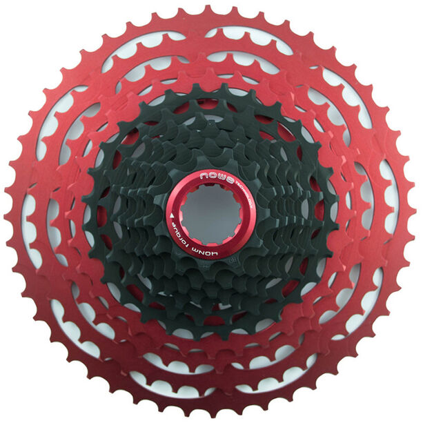 NOW8 Facile Cassette 12-speed for Shimano black/red