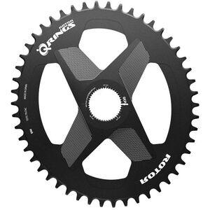 Rotor Q-Ring Kettenblatt Oval 1x DM Alu schwarz schwarz