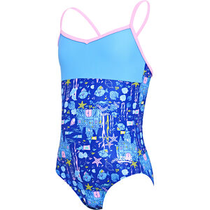 Zoggs Undersea V Back Swimsuit Mädchen blue/multi blue/multi