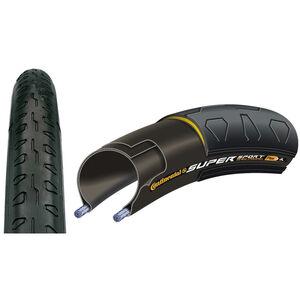 Continental Super Sport Plus Reifen 700 x 28C Draht schwarz schwarz