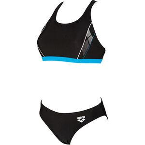 arena Skid Two Pieces Swimsuit Damen black-turquoise-white black-turquoise-white