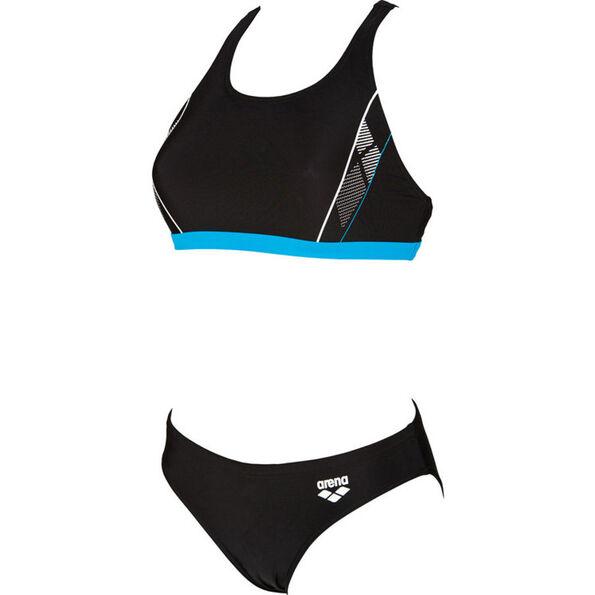 arena Skid Two Pieces Swimsuit Damen black-turquoise-white