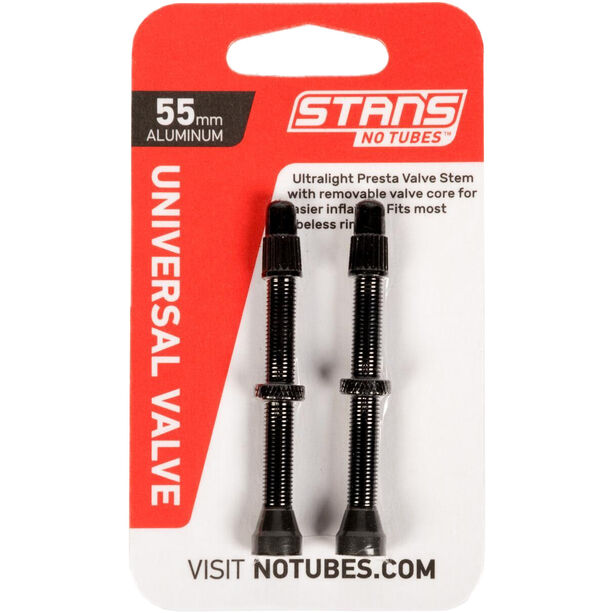NoTubes Universal Tubeless Ventil Presta Aluminium 55mm black