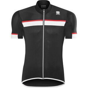 Sportful Pista SS Jersey Herren black/white-red black/white-red