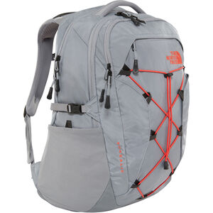 The North Face Borealis Backpack Damen mid grey/juicy red mid grey/juicy red