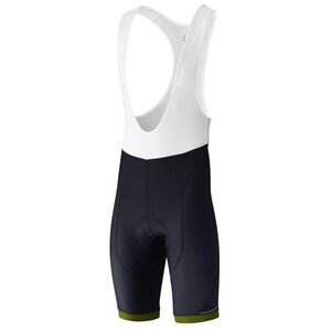 Shimano Aspire Bib Shorts Herren black/lime yellow black/lime yellow