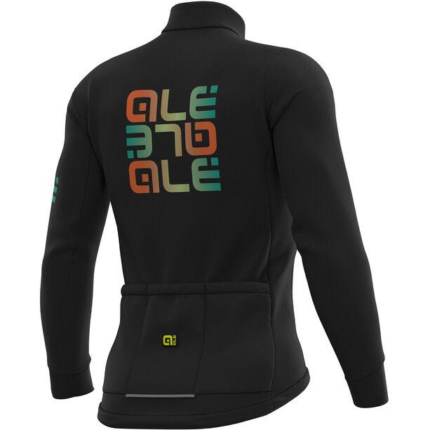 Alé Cycling Solid Mirror Winter Trikot Herren black