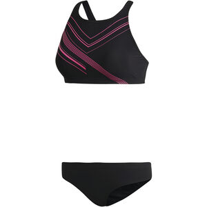 adidas Two-Piece Placed-Print Bikini Women Black/Shock Pink bei fahrrad.de Online