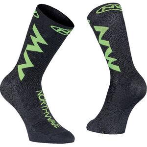 Northwave Extreme Air Socks black/lime fluo black/lime fluo