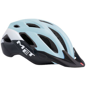 MET Crossover Helm lady light blue/black/white