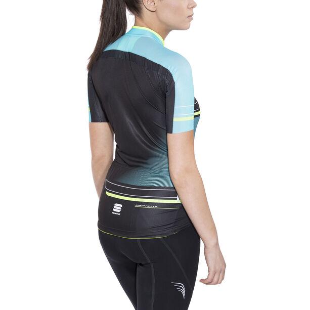 Sportful Gruppetto Pro Jersey Damen black/turquoise/green fluo
