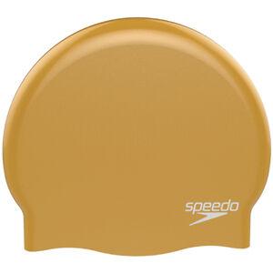 speedo Plain Moulded Silicone Cap yellow