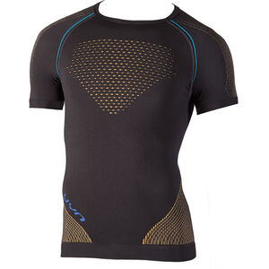 UYN Multisport Evolutyion UW SS Shirt Herren charcoal/gold/atlantic charcoal/gold/atlantic