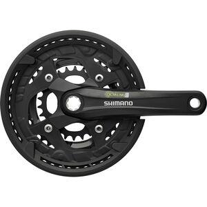 Shimano Alivio FC-T4010 Kurbelgarnitur Octalink 9-fach schwarz schwarz